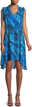 Elie Tahari Balere High-Low Sleeveless Dress