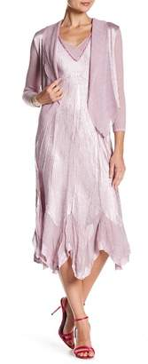 KOMAROV Waterfall Jacket & Dress 2-Piece Set