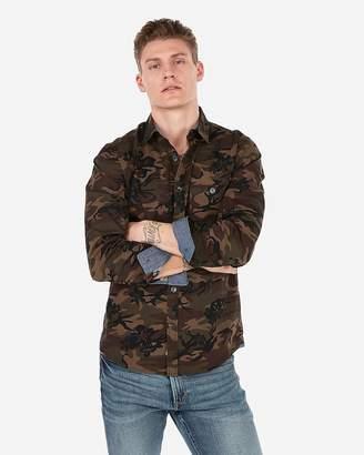 Express Slim Camo Shirt