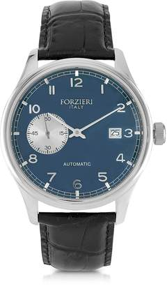 Forzieri Byron Stainless Steel Men's Watch w/Croco Leather Strap