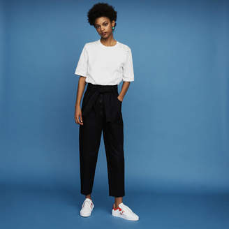 Maje Cotton T-shirt with pearl detailing