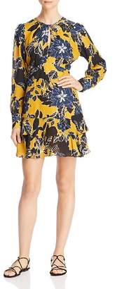 Parker Hayley Floral Print Keyhole Dress