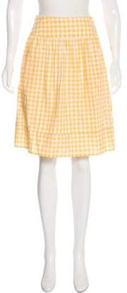 Thierry Colson Gingham Knee-Length Skirt