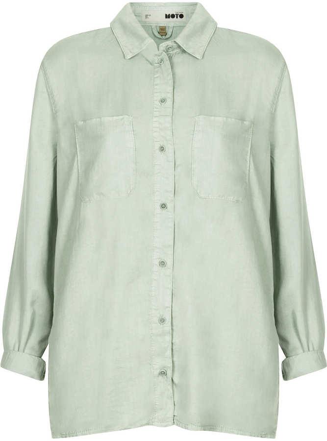 Tencel Moto mint shirt