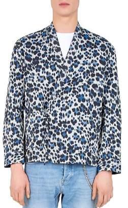 The Kooples Blur Leopard Regular Fit Button-Down Shirt