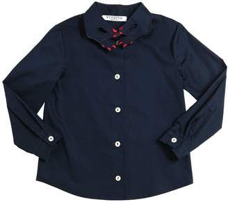 Embroidered Cotton Poplin Shirt