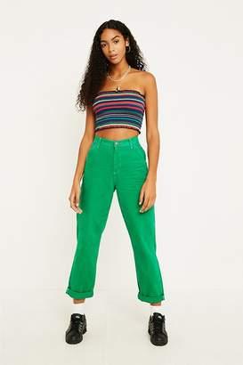 BDG Contrast Stitch Green Workwear Jeans