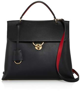 Salvatore Ferragamo Jet Set Top Handle Leather Bag