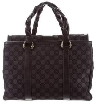 Emporio Armani Jacquard Leather-Trim Bag