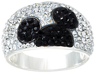 As Is Disney Pave' Crystal Hidden Mickey Band Ring $21.50 thestylecure.com