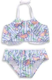Janie and Jack Baby Girl's, Little Girl's & Girl's UPF50+ Two-Piece Bikini Set