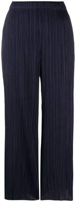 Pleats Please Issey Miyake high-waisted pleated trousers