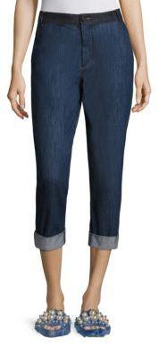 Miu MiuMiu Miu Denim Patch Jeans