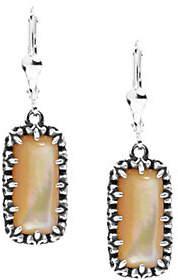 Carolyn Pollack Sterling Positano Gemstone Rectangle Earrings