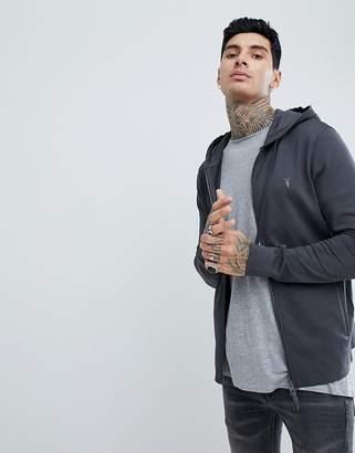 AllSaints hoodie in washed black