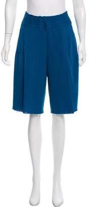 Issey Miyake High-Rise Tailored Shorts