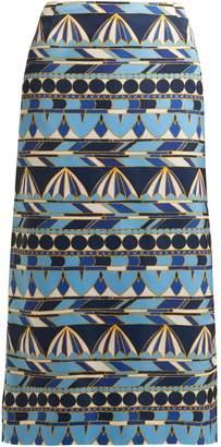 LA DOUBLE J Umbrellas-print pencil skirt