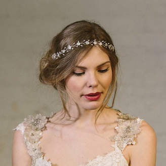 Carlisle Debbie Isabella Pearl And Crystal Flower Crown Ribbon Headband