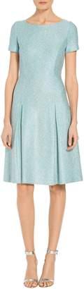 St. John Flecked Sparkle Knit Dress