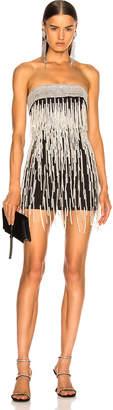 ATTICO Ludmilla Fringe Beaded Mini Dress