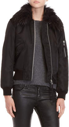 SAM. Carly Real Fur Trim Jacket