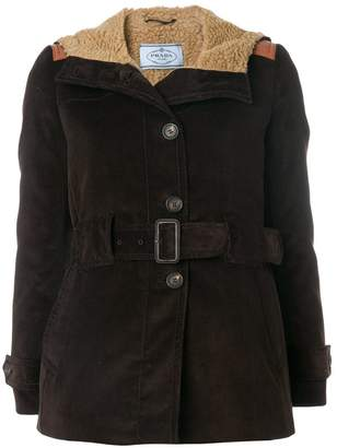 Prada corduroy Caban jacket