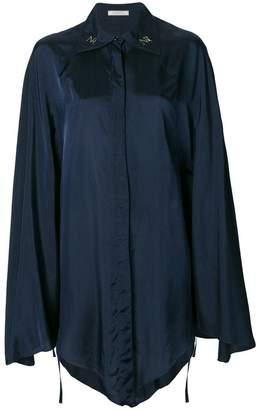 Nina Ricci satin wide sleeve shirt