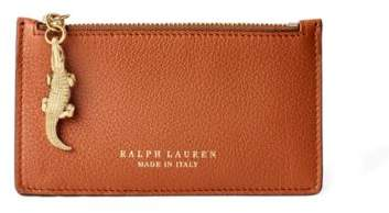 Ralph Lauren Calfskin Mini Zip Pouch Rl Gold One Size