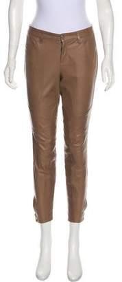 Ralph Lauren Leather Skinny-Leg Pants