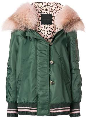 Ermanno Scervino fur-trim hooded jacket