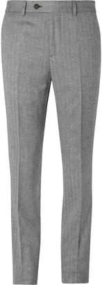 Brunello Cucinelli Grey Slim-Fit Herringbone Virgin Wool And Cashmere-Blend Suit Trousers