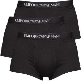 Emporio Armani Mens Three Pack Trunks Black