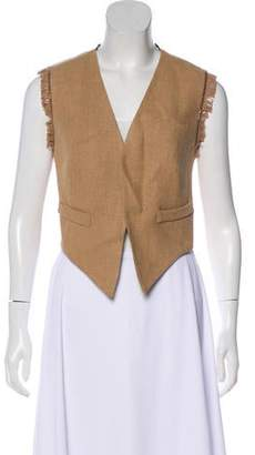 Brunello Cucinelli Monli-Trimmed Open Front Vest w/ Tags