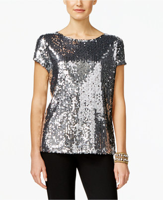 INC International Concepts Sequined Top, Only at Macy's $79.50 thestylecure.com