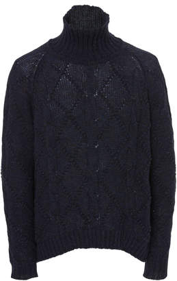 Jil Sander Cable-Knit Turtleneck Sweater