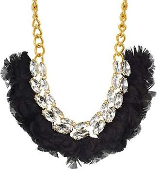 """Kate Spade Crystal & Feather Statement Necklace, 16"""""""