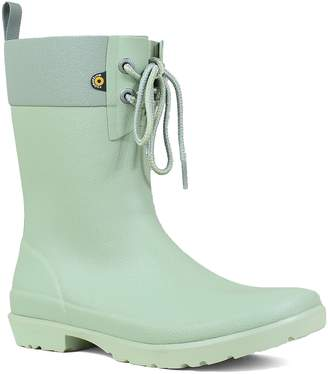 Bogs Floral Lace-Up Waterproof Rain Boot