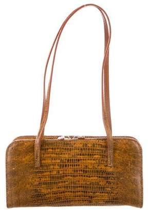Jimmy Choo Lizard Top Handle Bag