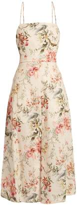ZIMMERMANN Mercer floral-print open-back dress $495 thestylecure.com