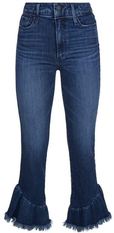 Hoxton Straight Leg Ruffle Jeans