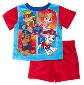 AME Sleepwear Baby Boy's Two-Piece Paw Patrol Graphic Tee and Shorts Pajama Set