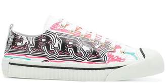 Burberry patterned low top sneakers