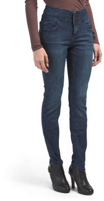 Triple Stacked Waist Skinny Jeans