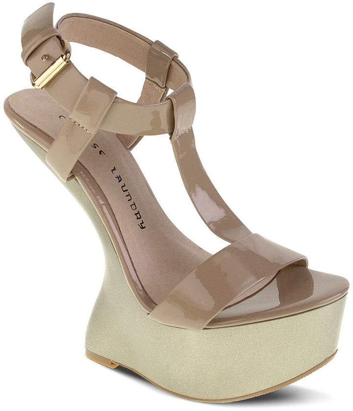 Chinese Laundry Shoes, Controversy Wedge Platform Sandals