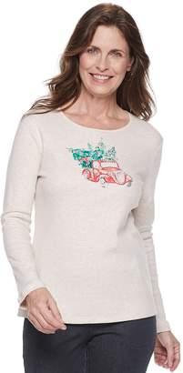 Croft & Barrow Women's Holiday Long-Sleeve Top