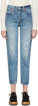 Levi's Blue Wedgie Fit Jeans $150 thestylecure.com