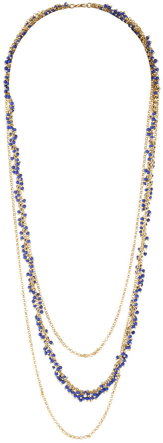Forever 21 Beaded Rolo Chain Necklace