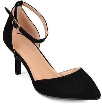 Co Brinley Womens Ankle Strap Faux Suede Pumps
