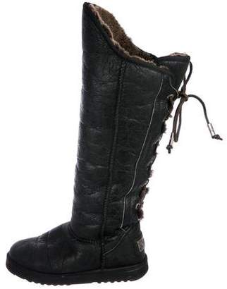 Australia Luxe Collective Lace-Up Knee-High Boots