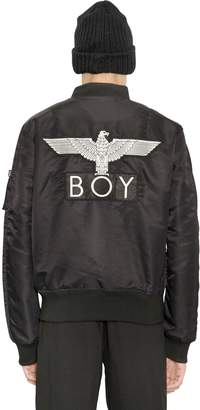 Boy London Reversible Nylon Bomber Jacket